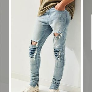 NWT PacSun Ripped Moto Stacked Skinny Jeans